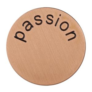 Picture of 'Passion' Medium Rose Gold Coin